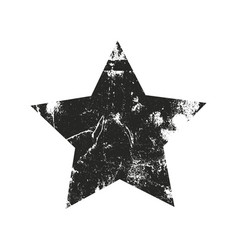 grunge star silhouette vector image