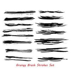 Grungy brush strokes set vector