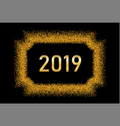 happy new year gold background golden number vector image