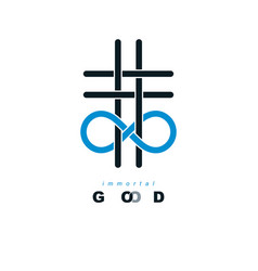 immortal god conceptual symbol combined with vector image