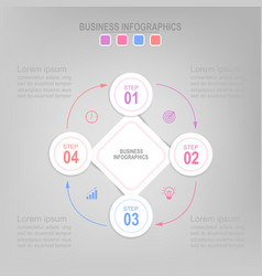 Infographic flat design of business icon vector