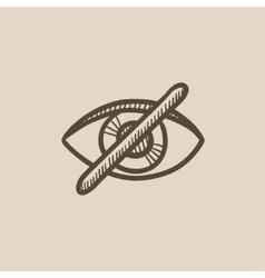 Invisible sketch icon vector