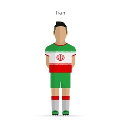 Iran football player Soccer uniform vector image