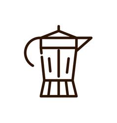 italian coffee maker preparation line design vector image