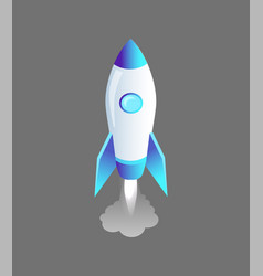 Launching rocket craft icon vector