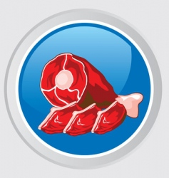 meat icon vector image vector image