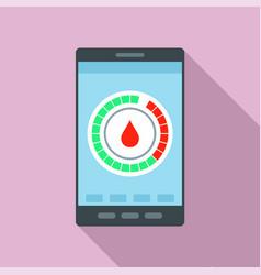 menstrual mobile calendar icon flat style vector image