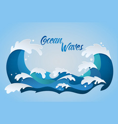 Ocean waves color vector