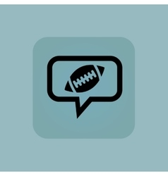 Pale blue rugby message icon vector