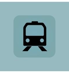 Pale blue train icon vector