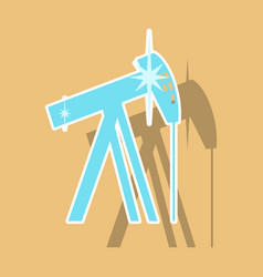 Paper sticker on theme arabic business oil derrick vector