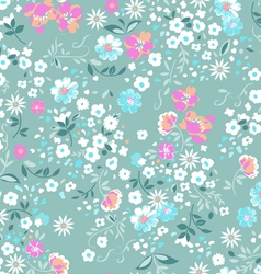 Pastel pink and blue ditsy background vector