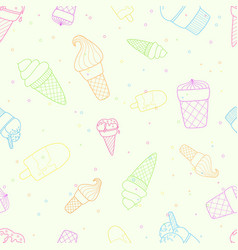 perfect seamless pattern with ice cream vector image