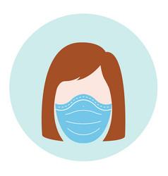 Protective mask women vector