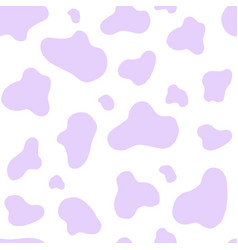 purple cow seamless pattern abstract vector image