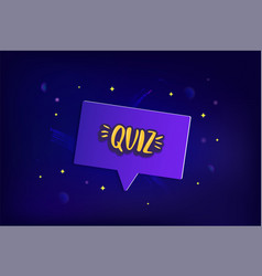 Quiz lettering card vector