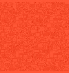 red household seamless pattern vector image