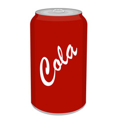Refreshing cold soda iced soft drinks can vector