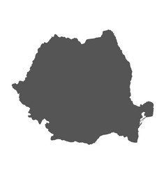 Romania map black icon on white background vector