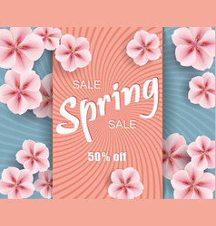 sale ad mockup of banner beautiful spring vector image