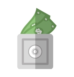Save box money cash bills flat icon vector