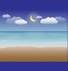 sea sand and night sky vector image