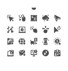 Selection cursors well-crafted pixel vector