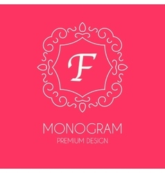 Simple monogram design template vector
