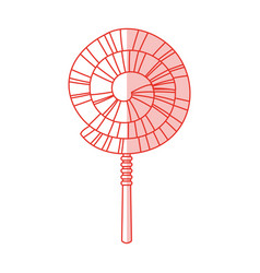 spiral lollipop design vector image