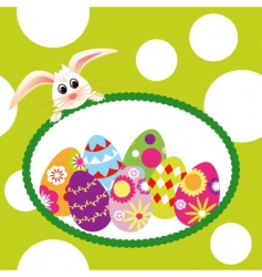 springtime Easter holiday wallpaper vector image