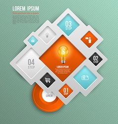 square concepts with icons vector image