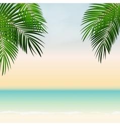 Summer Time Palm Leaf Background vector
