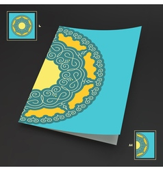 Textbook Booklet or Notebook Mockup vector