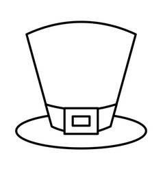 Top hat accessory fashion irish outline vector