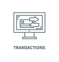 Transactions line icon linear concept vector