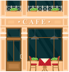 vintage cafe house building facade vector image