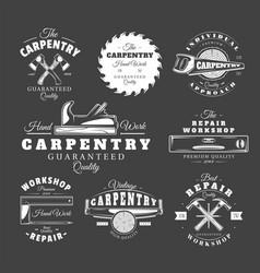 Vintage carpentry labels vector