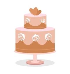 Wedding Cake in Flat Design vector image