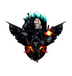 Witcher and monsters alternate version vector