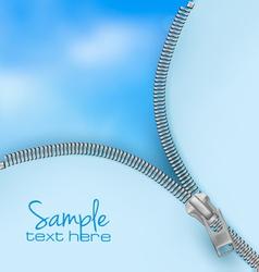 Zipper sky background vector