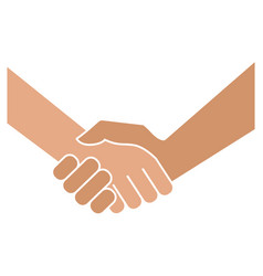 handshake icon on white background vector image vector image