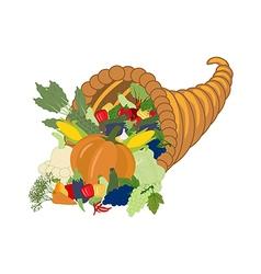 Horn of plenty harvest vector image