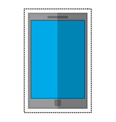 smartphone mobile technology shadow vector image