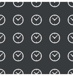 Straight black clock pattern vector