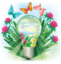 Energy of nature vector image vector image