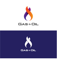 gas and oil logo vector image