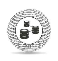 globe binary concept data network vector image