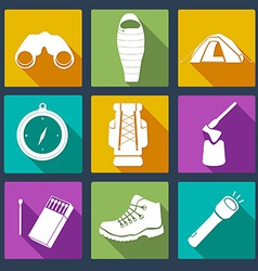 CampingIcons4 vector image vector image