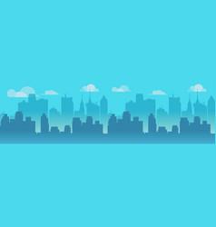 city skyline blue city vector image