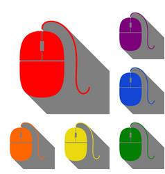 mouse sign set of red orange vector image